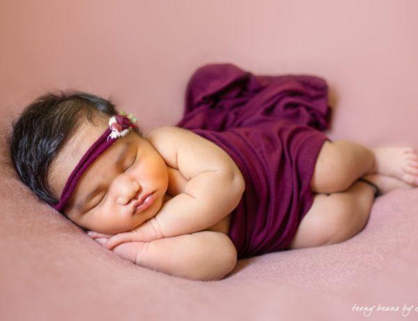 Raleigh newborn photographer - Baby Aarna 3