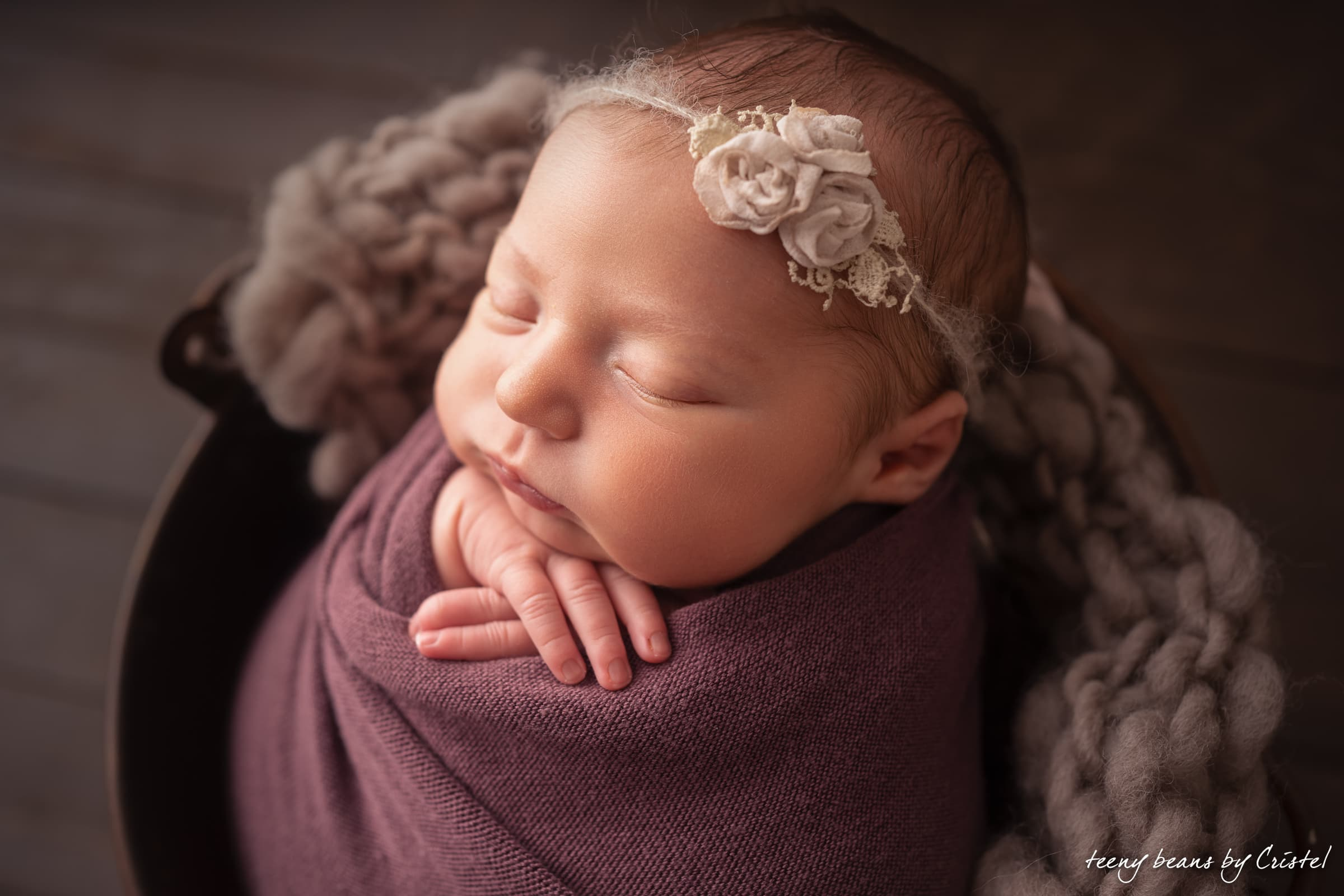 raleigh newborn photographer – baby isabella
