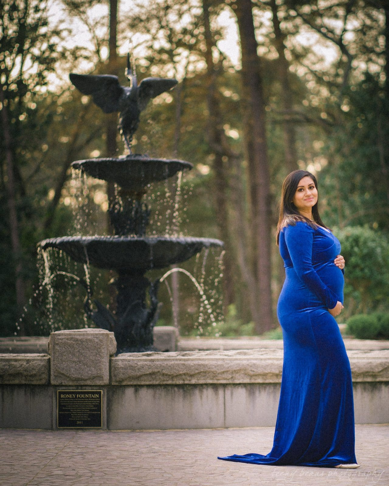 duke gardens maternity portrait photography yashika 10
