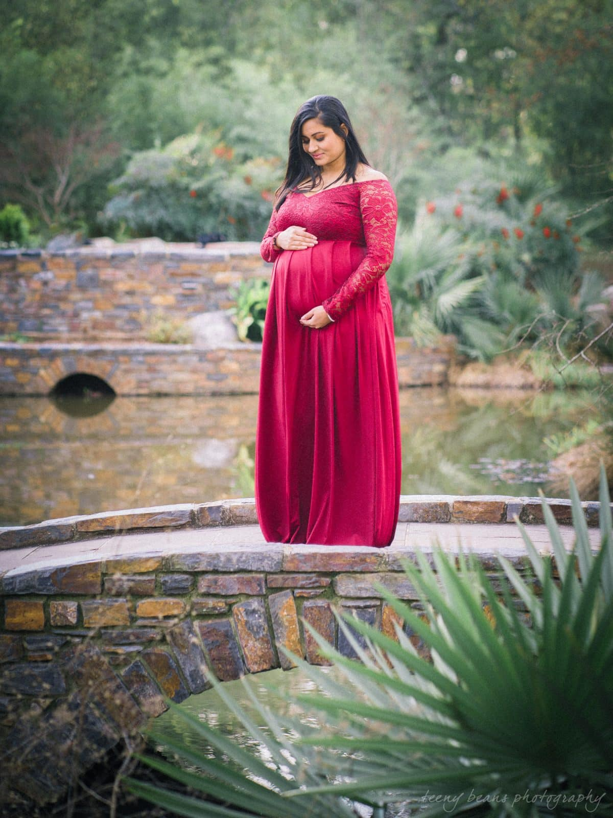 duke gardens maternity portrait photography yashika 3