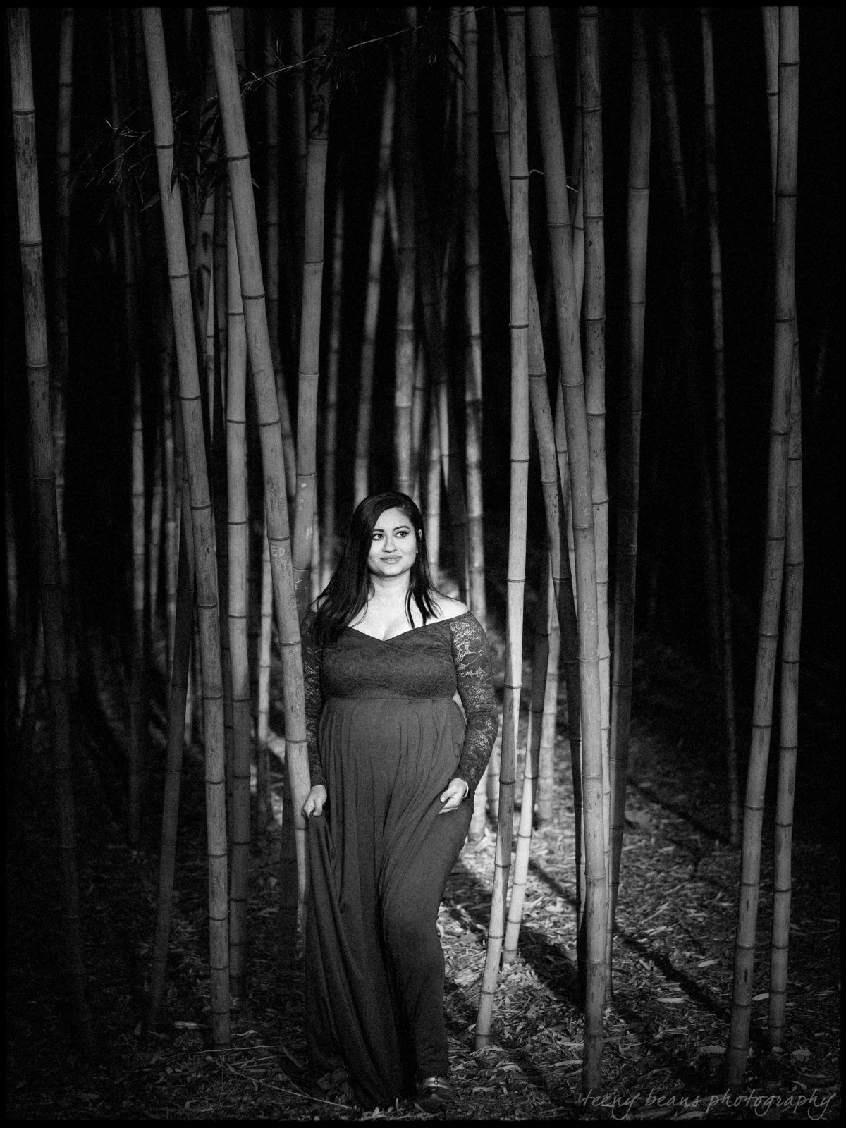 duke gardens maternity portrait photography yashika 6